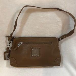 Tignanello Caramel Leather Shoulder Bag